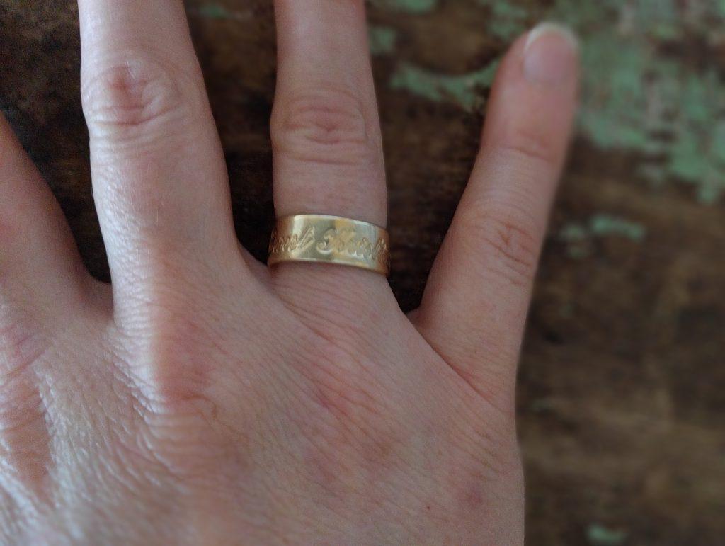 Ringen som symboliserer forpliktelser